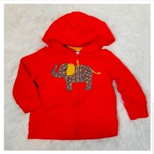 💡 Carter's Girl Coral Zip Up Hooded Sweater